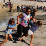 Illegal immigrants rushing US border